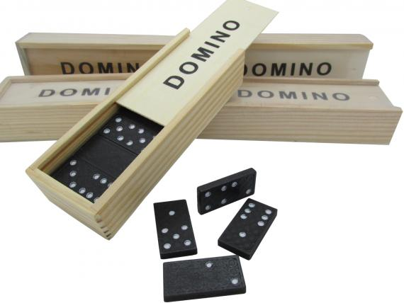 Domino Set in Holzbox
