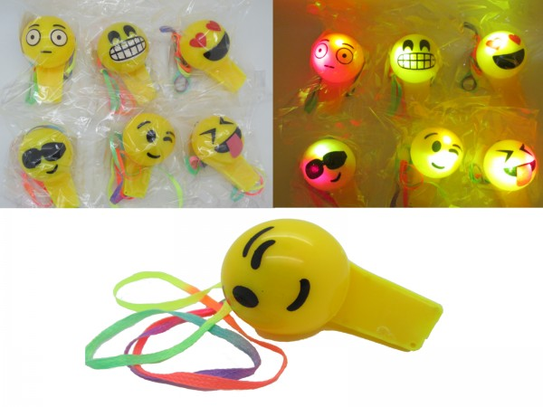 LED Trillerpfeife Smiley
